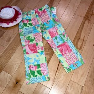 Lilly Pulitzer 8 Patchwork Stretch Capris NWT
